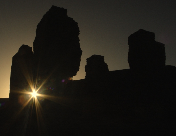 طلوع خورشید نوروز در چهارتاقی بتخانه آتشکوه